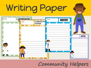 Writing Paper : Community Helpers 1 : Standard Lines
