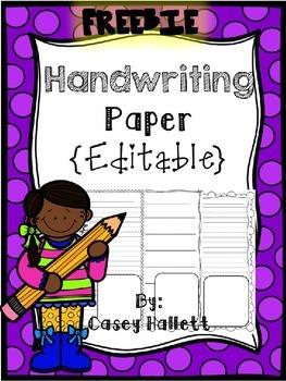 Writing Paper Freebie {Editable}