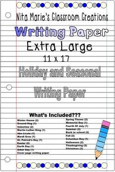 Writing Paper ~ Holiday and Seasonal