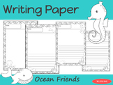 Writing Paper : Ocean Friends : Standard Lines