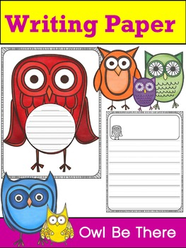 Writing Paper : Owl Be There : Primary Lines