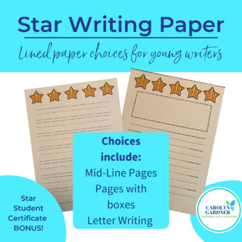 Writing Paper Packet - Stars
