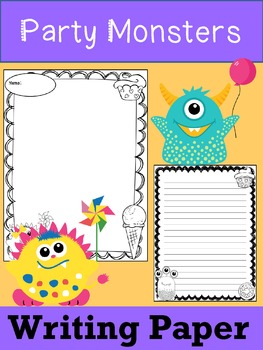 Writing Paper : Party Monsters : Standard Lines