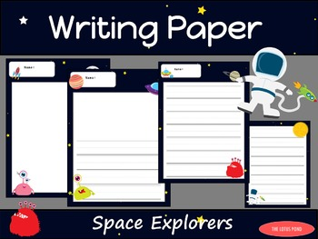 Writing Paper : Space Explorers : Primary Lines