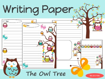 Writing Paper : The Owl Tree : Standard Lines