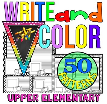 Writing Paper: Write and Color: Creative Writing and more: