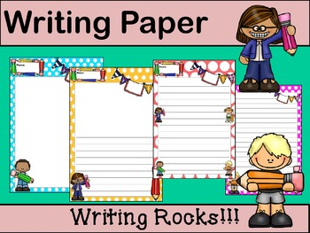 Writing Paper : Writing Rocks! : Standard Lines