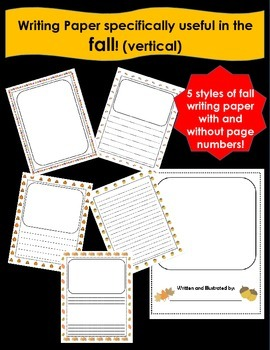vertical Writing Paper for the FALL!