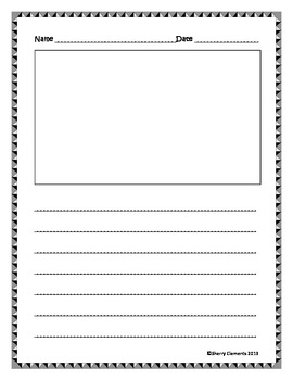 Writing Paper (lines and drawing frame)