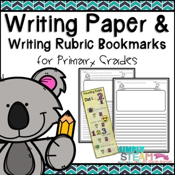 Writing Paper with Self Checklist for Primary Grades