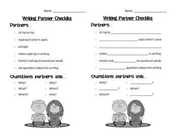 Writing Partner Checklist