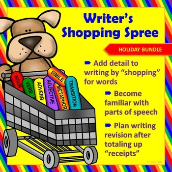 "Seasonal Writing & Parts of Speech Activity:""Writer's Shop"