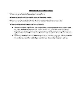 Writing Pattern Practice Test