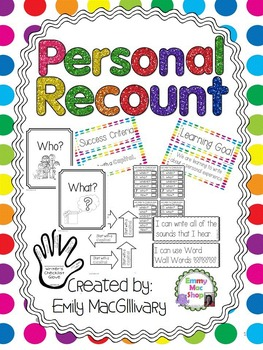 Writing Personal Recounts with Learning Goals, and Success