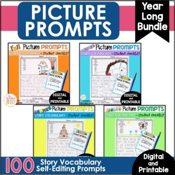 Fall Winter Spring -Writing Picture Prompts BUNDLE