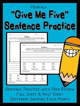 Monthly Sentence Practice