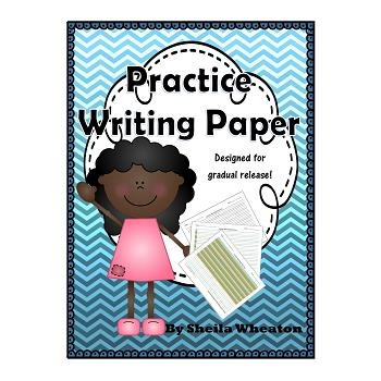 Writing Practice Paper - Colored Writing Paper for Gradual