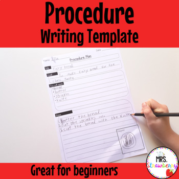 Writing Procedures Writing Framework