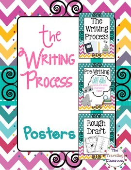 Writing Process Classroom Decor Poster Set