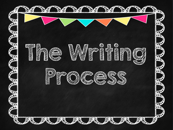 Writing Process Clip Chart Chalkboard