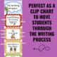 Writing Process Clip Chart - Monkey Theme