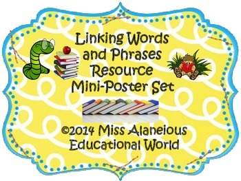 Writing Process: Linking Words and Phrases Resource Mini-Posters