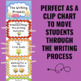 Writing Process Clip Chart - Bee Theme