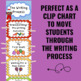 Writing Process Clip Chart - Candy Theme