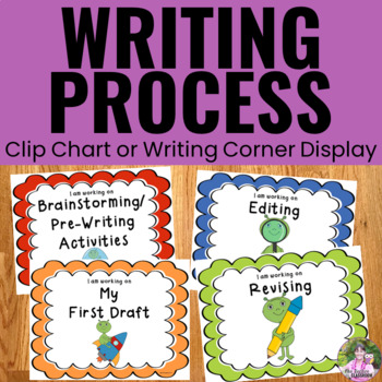 Writing Process Clip Chart - Space Theme