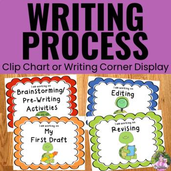 Writing Process Clip Chart - Turtle Theme