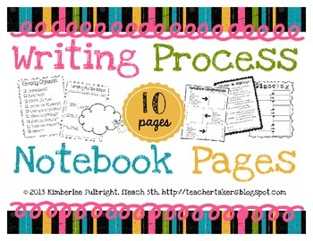 Writing Process Notebook Pages