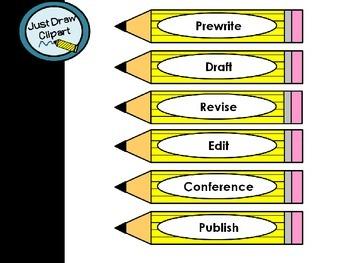 Writing Process Pencil Headers