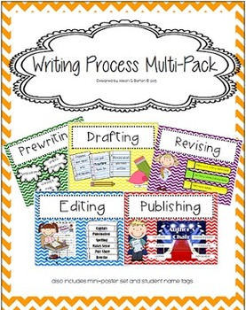 Writing Process Poster and Mini-Poster Set