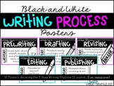 Writing Process Posters (BLACK & WHITE)