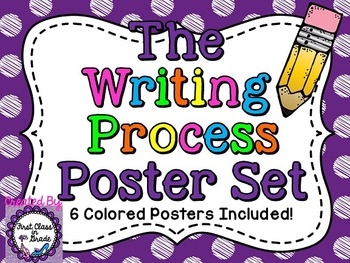 Writing Process Posters (Colored Polka Dot)