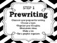 Writing Process Posters for the Classroom: Chevron Theme (