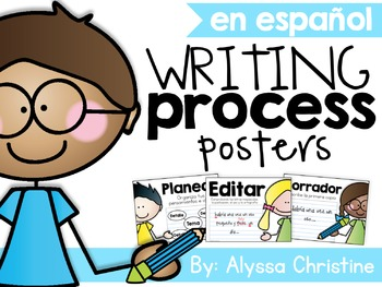 Writing Process Posters in Spanish