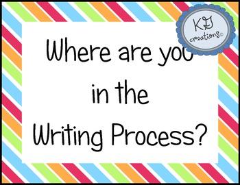 Writing Process Progress Chart