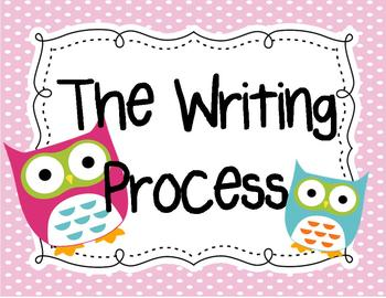 Writing Process Signs {Owl-Themed}