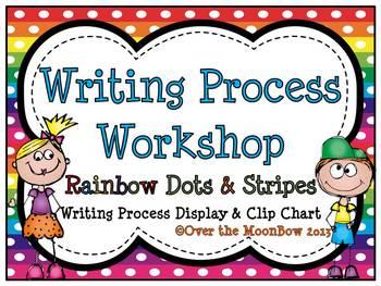 Writing Process Workshop Displays & Clip Chart ~ Rainbow D