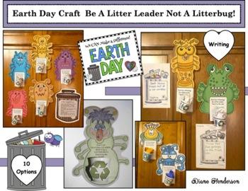 Writing Prompt Craftivity: Be A Litter Leader Not A Litterbug