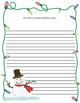 Writing Prompt: If I were a snowman for a day... and Chris