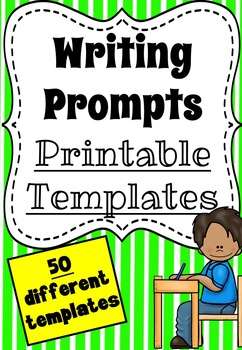 Writing Prompt Templates - Printable Worksheet Pack