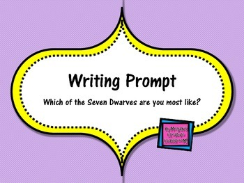 FREE Writing Prompt: Which Seven Dwarves Character are YOU