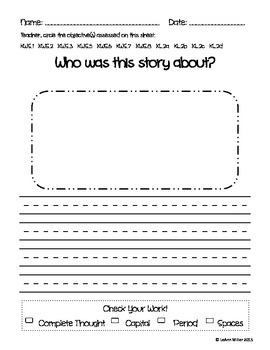 Writing Prompt - Who Was This Story About?