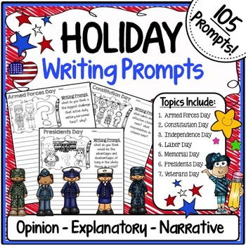 Holiday Activities {Holiday Writing Prompts - Opinion, Exp