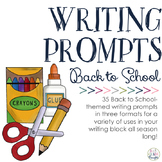 Writing Prompts: Back to School