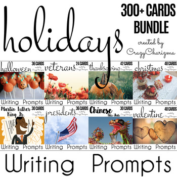Holidays Writing Prompts {300+ cards}