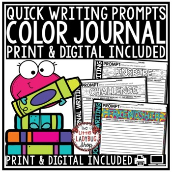 Writing Prompts  • Color Journaling  • Published Writing