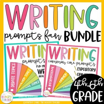 Writing Prompts Fan Bundle (Common Core and More) 300+ Wri